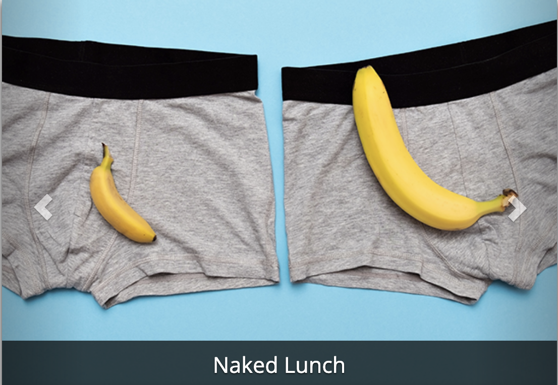 naked lunch: food and sex